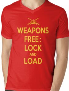 Weapons Free: Lock N Load Mens V-Neck T-Shirt