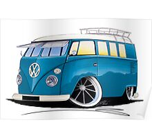 VW Splitty (11 Window) J Poster