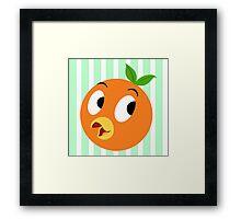 Lil Orange Bird Framed Print