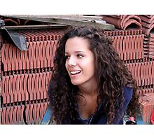 Marsie -  In the Land of Bricks Photographic Print