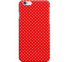 Red & White Retro Polkadot Pattern iPhone Case/Skin