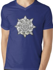 Mandala: Black/White Mens V-Neck T-Shirt
