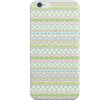 Pastel Colors Lines And Dots Pattern iPhone Case/Skin