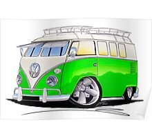 VW Splitty (11 Window) K Poster