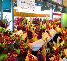 Flower Bazaar at Pike Place Market by Mary-Elizabeth Kadlub