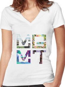 MGMT Albums Women's Fitted V-Neck T-Shirt