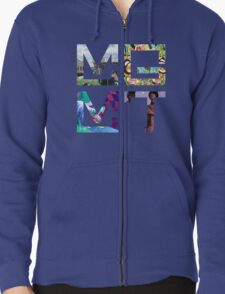MGMT Albums Zipped Hoodie
