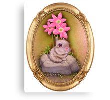 Lil' Critter(Gold Frame) Canvas Print