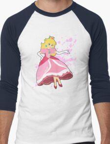 Peach - Super Smash Bros Men's Baseball ¾ T-Shirt