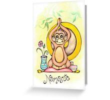Namaste Monkey Greeting Card