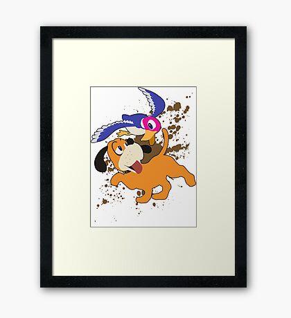 Duck Hunt Duo - Super Smash Bros Framed Print