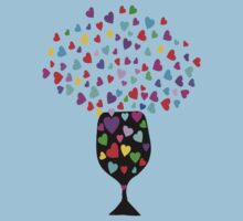 ۞»♥Drink Love: A Glass of Romantic Hearts Clothing & Stickers♥«۞ by Fantabulous