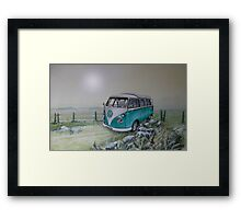 Skip the Airstrip- for the sunset Framed Print