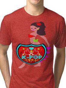 ㋡♥♫Love(SaRangHaeYo) K-Pop Clothing & Stickers♪♥㋡ Tri-blend T-Shirt