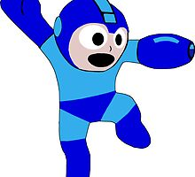 "Smooth ""8-Bit"" Megaman Sticker by nfisher"