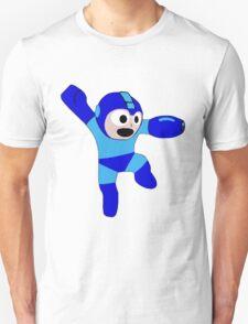 "Smooth ""8-Bit"" Megaman Sticker T-Shirt"