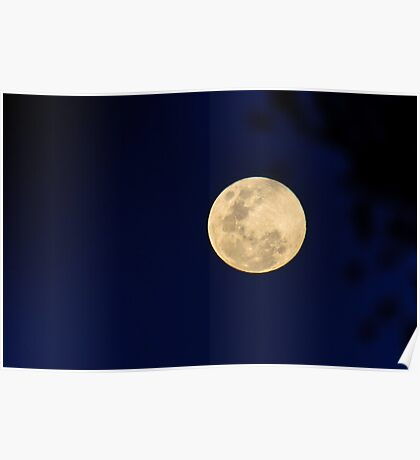 A wink to Neil Armstrong on a blue moon Poster