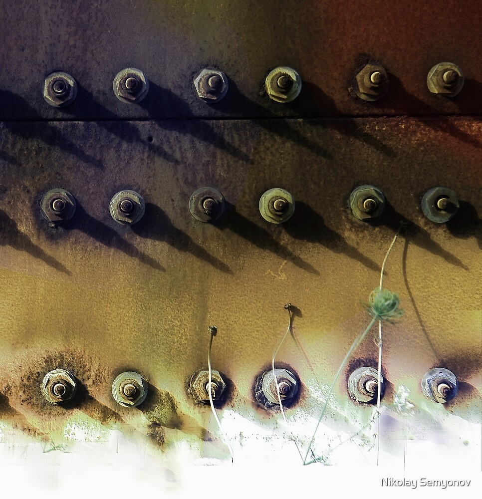 composition with bolts by Nikolay Semyonov