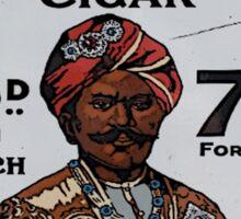 Vintage looking Rajah Cigar Sticker