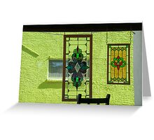 Looking out the window, Phoenix, Arizona Greeting Card