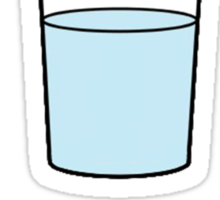 The glass half full or half empty Sticker