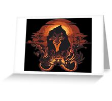 Scar Lion King Greeting Card