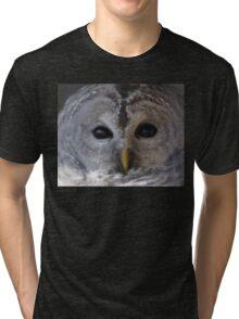 Barred owl Tri-blend T-Shirt