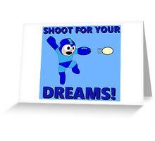 "Megaman Retro Gamer ""Shoot For Your Dreams"" Geek Aspiring Nerd Greeting Card"