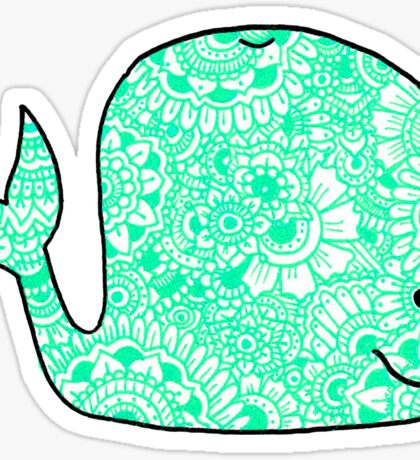 Whale: Teal Sticker