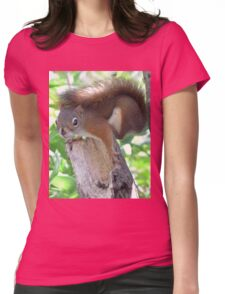 Nervous red squirrel Womens Fitted T-Shirt