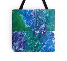 Brush Stroke Blue Tote Bag