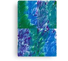 Brush Stroke Blue Canvas Print