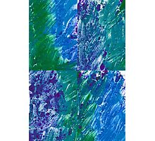 Brush Stroke Blue Photographic Print