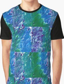 Brush Stroke Blue Graphic T-Shirt