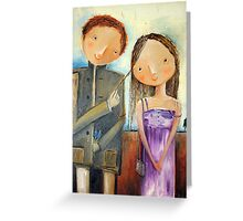 Brush Aside Hair Greeting Card
