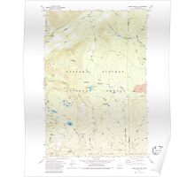 USGS Topo Map Washington State WA Green Mountain 241409 1970 24000 Poster