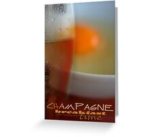 Champagne Breakfast © Vicki Ferrari Greeting Card