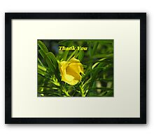 Thank you series: yellow flower Framed Print
