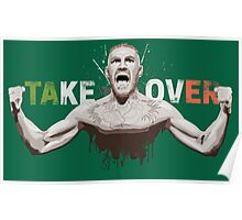 "Conor McGregor ""Take Over"" Eire champion design Poster"