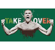 "Conor McGregor ""Take Over"" Eire champion design Photographic Print"