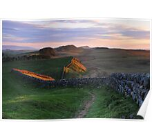 Hadrian's Wall from Kings Hill Poster