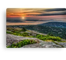 Cadillac Mountain Sunrise Canvas Print