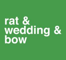 rat & wedding & bow Kids Clothes
