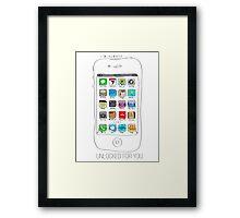 Phone illustration Framed Print