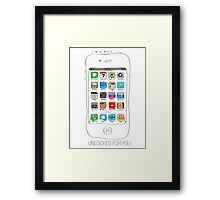 Phone illustration Framed Print