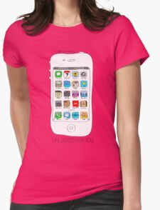 Phone illustration Womens Fitted T-Shirt