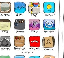 Phone illustration Sticker