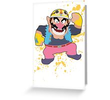 Wario - Super Smash Bros Greeting Card