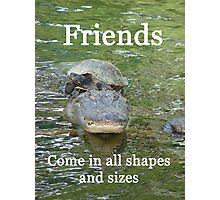"""""""Friends come in all shapes and sizes""""  by Carter L. Shepard Photographic Print"""