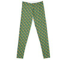 Tessellating Squid - Gold and Turquoise Leggings